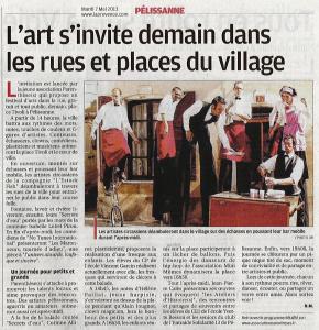 article la Provence mai 2013